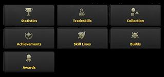 Elder Scrolls Online Character and Guild Statistics   ESO